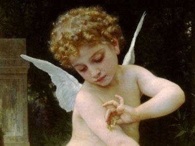 Karta dne – William-Adolphe Bouguereau, Amor s motýlkem 1888