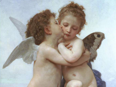 Andělské karty eTarot.cz – William-Adolphe Bouguereau, Amor a Psyché 1873
